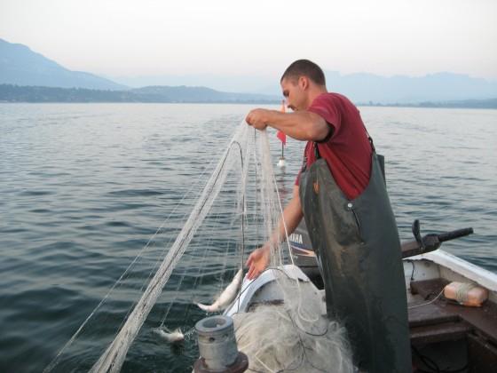 Olivier Parpillon pêcheur